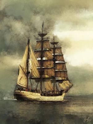 Bombelkie Digital Art - Tall Ship by Marcin and Dawid Witukiewicz