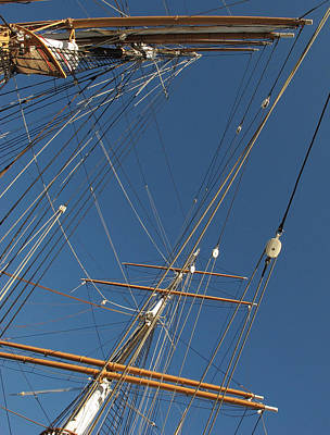 Tall Ship Rigging 2 Art Print by Winston  Wetteland