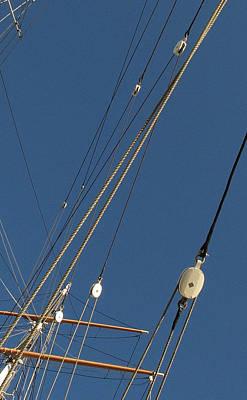 Tall Ship Rigging 3 Art Print by Winston  Wetteland