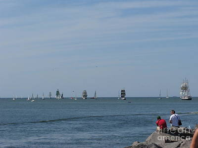 Photograph - Tall Ships 2009. Farewell. Klaipeda. Lithuania by Ausra Huntington nee Paulauskaite