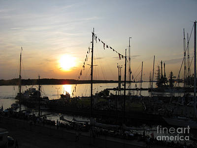 Photograph - Tall Ships At Rest. Klaipeda. Lithuania. by Ausra Huntington nee Paulauskaite