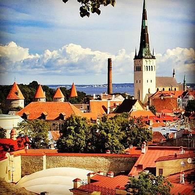 House Wall Art - Photograph - Tallinn - Estonia by Luisa Azzolini
