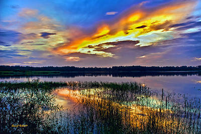 Talmadge Lake Florida Sunset Art Print
