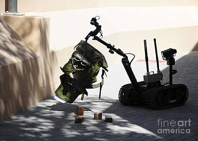 Improvised Explosive Device Photograph - Talon Remote-controlled Robot by Stocktrek Images