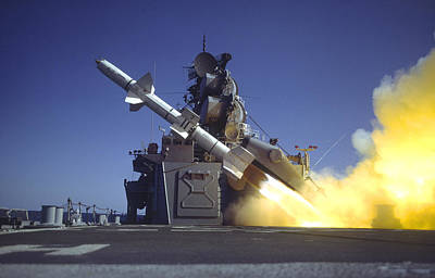 Photograph - Talos Missile Firing by Bernard Lynch