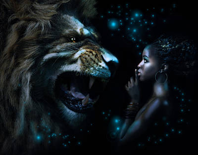 African-american Digital Art - Taming The Beast by Courtney Chaney