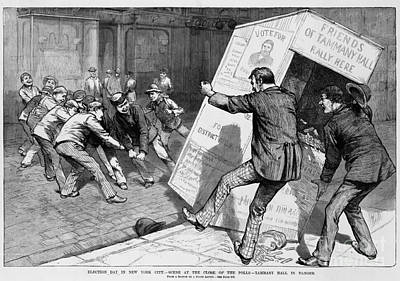 Tammany Hall In Danger Print by Photo Researchers