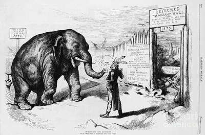 Tammany Hall Political Humor Print by Photo Researchers
