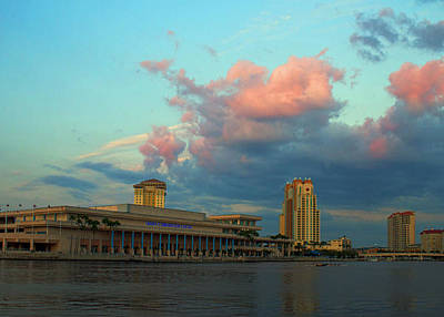 Painting - Tampa Convention Center At Sunset by Dorothy Riley