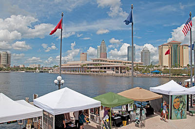 Photograph - Tampa Florida Riverwalk by John Black