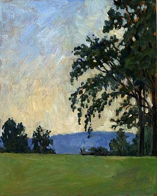 Abstract Realist Landscape Painting - Tanglewood Idyll by Thor Wickstrom