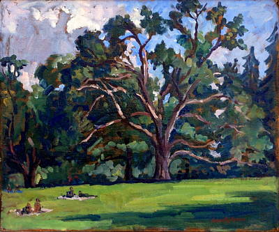 Abstract Realist Landscape Painting - Tanglewood Saturday by Thor Wickstrom