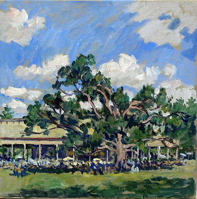 Abstract Realist Landscape Painting - Tanglewood Shade by Thor Wickstrom