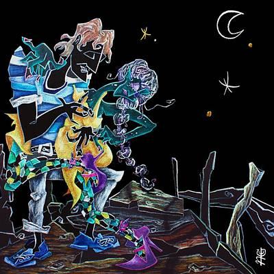 Luna Painting - Tango Argentino Milonga Ocho Gancho - Buenos Aires Argentina  by Arte Venezia