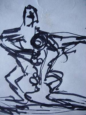 Drawing - Tango by Diane montana Jansson