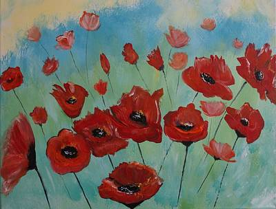 Painting - Tango Poppies by Leslie Allen