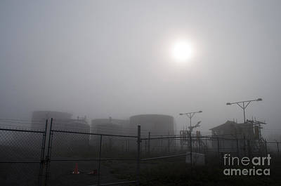 Tanks At Petrocor In The Fog Art Print by Gary Chapple