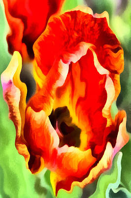 Outerspace Patenets Rights Managed Images - Tantalizing Tulip Royalty-Free Image by Angelina Tamez