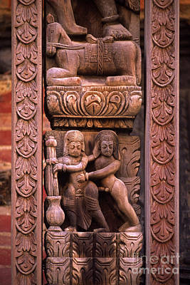 Photograph - Tantric Carving - Bhaktapur Nepal by Craig Lovell