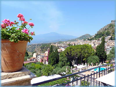 Photograph - Taormina Terrace With A View by Carla Parris