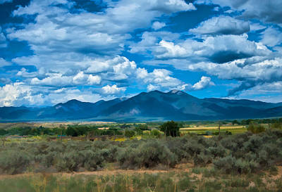Photograph - Taos From The South Mesa by Charles Muhle