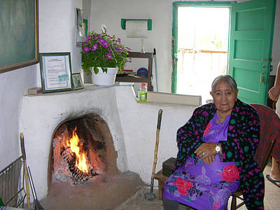 Photograph - Taos Pueblo Grandmother by Helen Haw