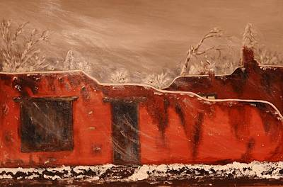 Painting - Taos Pueblo In The Snow by Robert Handler
