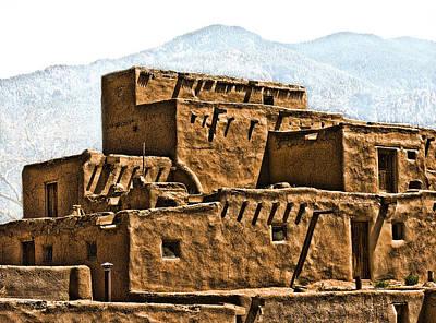 Photograph - Taos Pueblo by John Hansen