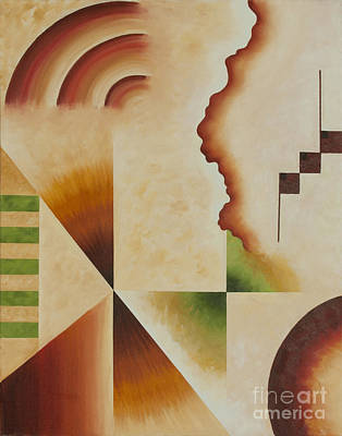Taos Series- Architectural Journey I Art Print by Teri Brown
