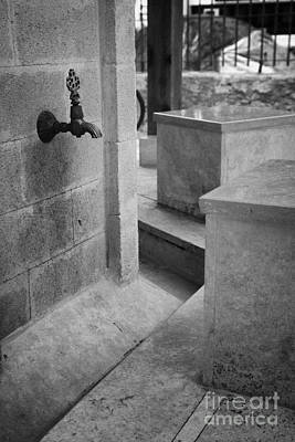 Tap And Seat At The Ablution Fountains Outside The Lala Mustafa Pasha Mosque In Famagusta Art Print by Joe Fox