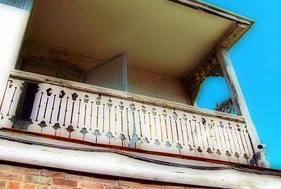 Art Print featuring the photograph Tap Room Balcony by MJ Olsen