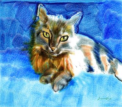 Painting - Tara The Cat by Suzanne Giuriati-Cerny