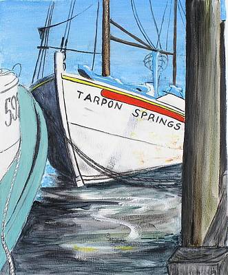 Art Print featuring the painting Tarpon Springs by G Linsenmayer