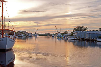 Photograph - Tarpon Springs Sunset by John Black
