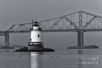 Photograph - Tarrytown Lighthouse And Tappan Zee Bridge Viii by Clarence Holmes
