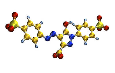 Tartrazine Food Colouring Molecule Art Print