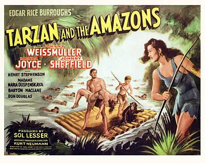 Tarzan And The Amazons, Johnny Print by Everett