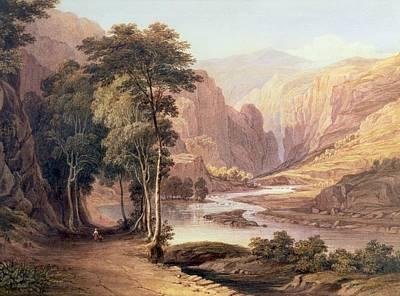 People Walking Painting - Tasmanian Gorge by John Glover