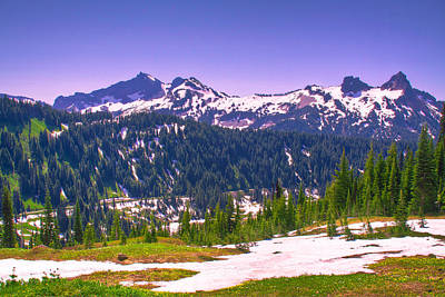 Photograph - Tatoosh Mountain Range II by David Patterson