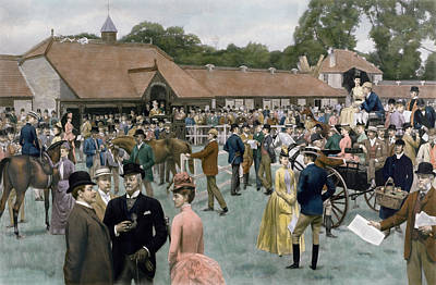 Horse Racing Painting - Tattersall's Newmarket Pub by Isaac J Cullin and I P Mendoza
