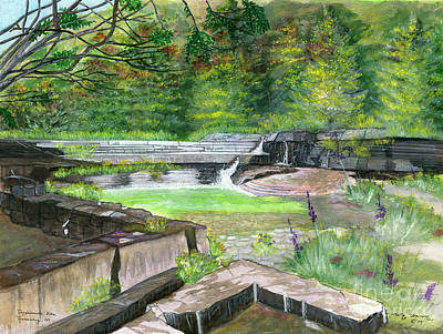 Ithaca Painting - Taughannock Vista Ithaca New York by Melly Terpening