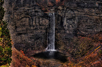 Photograph - Taughannok Falls II - Hdr by Richard Ortolano