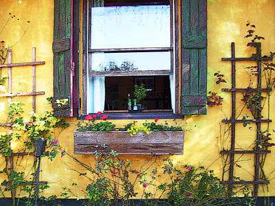 Photograph - Tavern Window by Ginny Schmidt