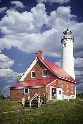 Tawas Point Lighthouse In Michigan Number 0007 Art Print by Randall Nyhof