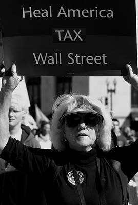Que Photograph - Tax Wall Street by Sonya Anthony