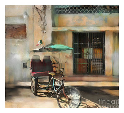 City Scape Digital Art - taxi built for two Cuba by Bob Salo