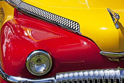 Headlight Photograph - Taxi De Soto by Garry Gay