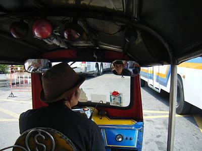 Taxi Ride Through Bangkok Art Print