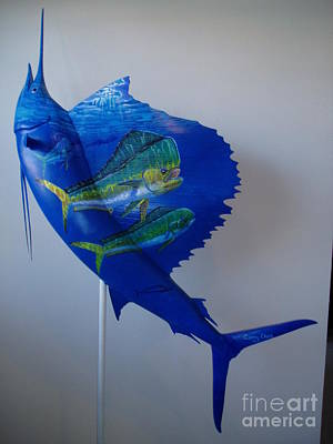 West Marine Painting - Taxidermy Art by Carey Chen