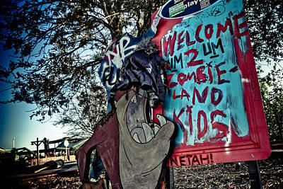 Taz Welcomes You To Zombie Land Art Print by Pixel Perfect by Michael Moore